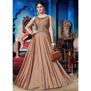 Enigmatic Chiku Brown Designer Gown
