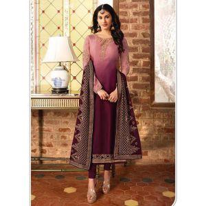 Sparkling Multi Satin Georgette Salwar Suit