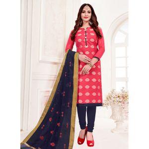 Coral Festive Wear Banarasi Jacquard Salwar Suit