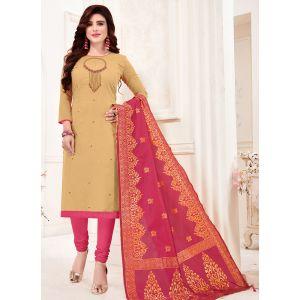 Creem Color Cotton Flex Straight Salwar Suit