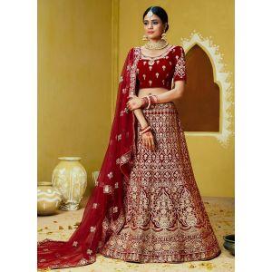 Sparkling Party Wear Velvet Lehenga Choli