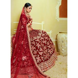Attractive Party Wear Velvet Lehenga Choli