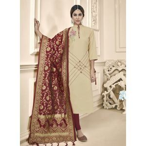 Designer Party Wear Cotton Salwar Suit