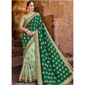 Green color Designer Saree-Other Embroidered Saree
