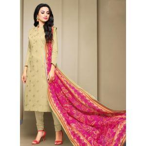 Off White color Casual Salwar Kameez-Cotton Salwar Kameez
