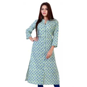 Green color Formal-Cotton Ready Made Kurti