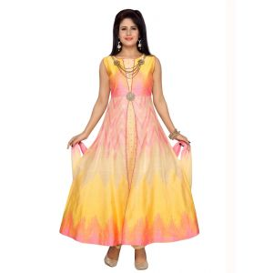 Multicoloured color Party Wear Rmd Salwar-Silk Salwar Kameez
