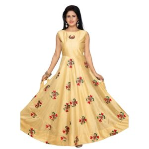 Off White color Party Wear Rmd Salwar-Silk Salwar Kameez