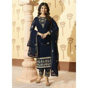 Blue color Designer-Georgette Salwar Kameez