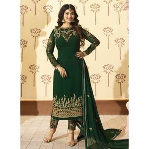 Green color Designer-Georgette Salwar Kameez
