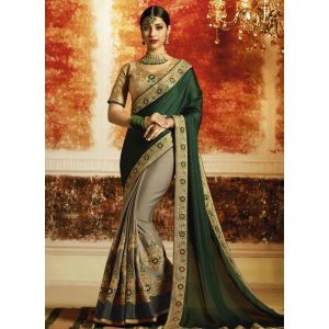 Sari Saree in Grem & Grey color