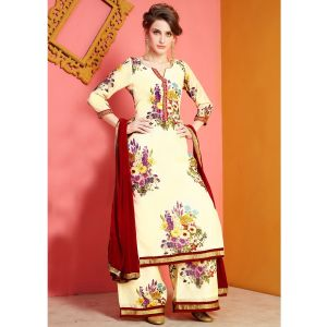 Off White color Plazzo Wear-Other Salwar Kameez