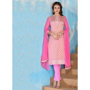 Womens Salwar Kameez Pink Color Straight Suits
