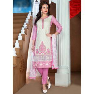 Womens Salwar Kameez White Color Straight Suits