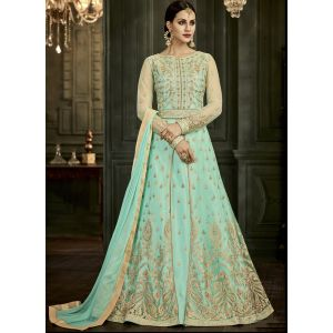 Women Salwar Kameez Green color Anarkali Suits