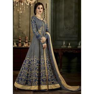 Women Salwar Kameez Blue color Anarkali Suits