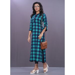 Women Ready Made Kurti Blue color