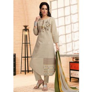 Women Ready Made Salwar Off White color Party Wear