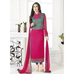 Women Salwar Kameez Pink color Jacket Style