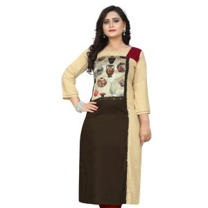 Women Ready Made Kurti Multicoloured Color Rayon