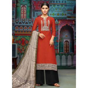 Women Salwar Kameez Red color Casual