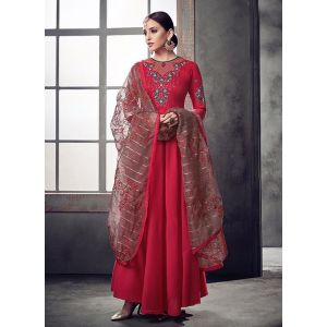 Women Gown Red color Designer