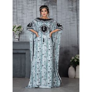 Scintillating Gray Color handmade Designer Kaftan