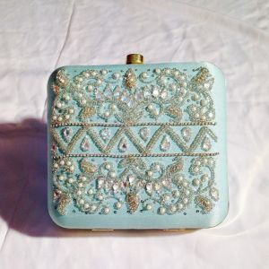 Blue  Color Handmade Clutch