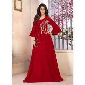 Woman Velvet Hand Made Abayas