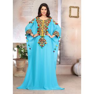 Woman Georgette Embroidery Kaftan