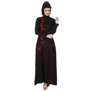 Womens Abaya Black Color Beautiful - Final Sales
