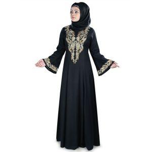 Womens Abaya Black Color Rubiya - Final Sales